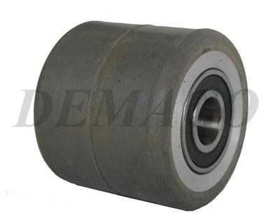 Nowość Rolka 70x80 aluminiowo-gumowa z łożyskami z szarą gumą - Koła i UP24